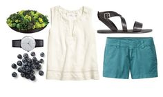 """Black and Blue"" by futterbutter-1 ❤ liked on Polyvore featuring Uniqlo, H&M, Klein & more and Allstate Floral"