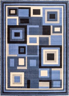 Blue Affordable Modern Contemporary Rugs Bargain Area