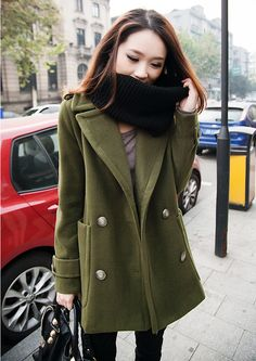 shop for New Women Modish Long Sleeve Double Breasted Wool Coat and more  for everyday cheap d184a961e79