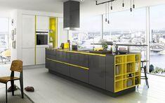 Cucina gialla dal design moderno n.08