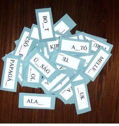 Képességfejlesztő játék, a HEdoki 1. | modernNagyi Dysgraphia, Dyslexia, Busy Bags, Language, Cards Against Humanity, Learning, Games, School, Creative