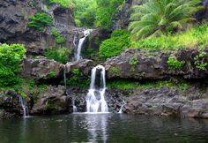 waterfall on the Road to Hana - Maui