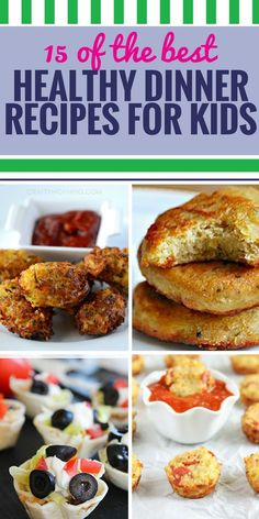 15 Healthy Dinner Recipes for Kids. Satisfy the entire family with these 15 delicious meal ideas you'll feel great about serving. There are even some for your crockpot. # Healthy Recipes for kids 15 Healthy Dinner Recipes for Kids - My Life and Kids Healthy Dinners For Kids, Best Healthy Dinner Recipes, Dinner Recipes For Kids, Kids Meals, Healthy Snacks, Healthy Eating, Dinner Healthy, Healthy Kids, Kids Dinner Ideas Healthy