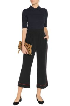 Silk crepe de chine culottes   GANNI   Sale up to 70% off   THE OUTNET