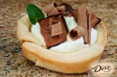 Try this quick and delicious DOVE Chocolate Pastry Cups recipe!