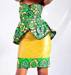 Green n yellow afrocombination African Wear, African Style, African Women, African Dress, African Inspired Fashion, African Fashion, Ankara Designs, Afro Style, Power Dressing