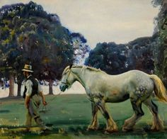 Painting by Sir Alfred Munnings