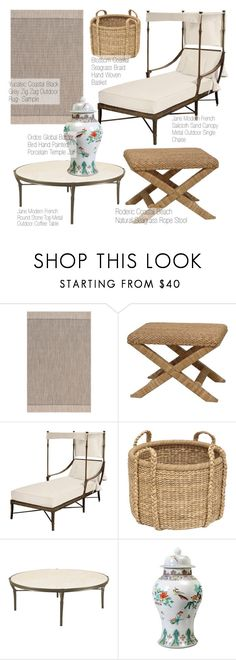 """Outdoor Decor"" by kathykuohome ❤ liked on Polyvore featuring interior, interiors, interior design, home, home decor and interior decorating"