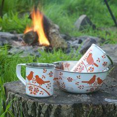 orange birds for fall camping