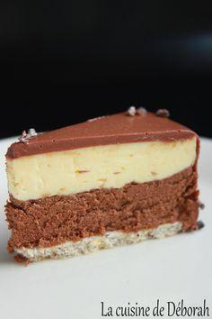 Entremets citron-chocolat La cuisine de Deborah Nutella Brownies, Cake Recipes, Dessert Recipes, Dacquoise, Oreo Cheesecake, Trifle, Just Desserts, Vanilla Cake, Panna Cotta