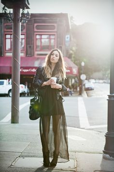 Rumi Neely in #Zara jacket, #LF dress, #JeffreyCampbell Climber boots, #MarcoTagliaferri bag