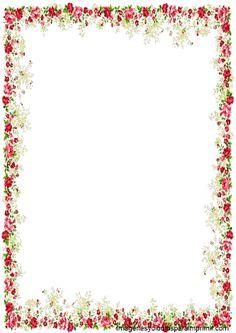 Borde con rosas para imprimir Bordes para pagina