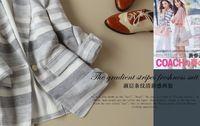 Fresh elegant stripe clasp suit 2013 new autumn