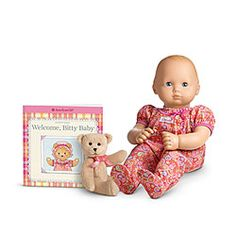"American Girl® Dolls: Bitty Baby  My granddaughter has this ""Christmas Present"""