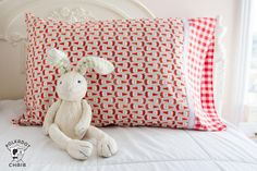 A quick and easy way to sew a pillowcase using a serger. Learn a simple way to sew a pillowcase, a free sewing pattern