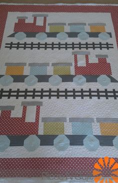 Piece N Quilt - All Aboard Quilt ***difficult to find in the blog but might be cute to try***