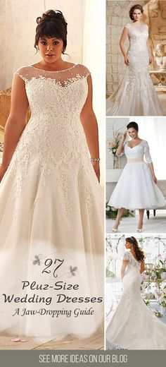 27 Plus-Size Wedding Dresses: A Jaw-Dropping Guide ❤ Plus-size wedding dresses have approving silhouettes and excellent design. Find the dress of your dreams and be the most attractive bride. See more: http://www.weddingforward.com/plus-size-wedding-dresses/ #weddings #dresses