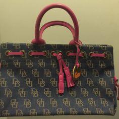 Dooney and Burke satchel Denim and hot pink leather Dooney & Bourke Bags Satchels