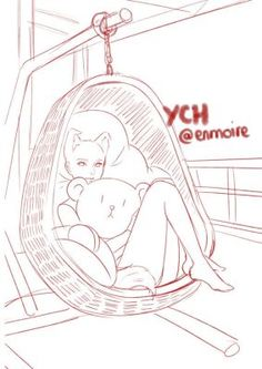[CLOSED] YCH : Eggchair by enmoire