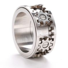 A manly ring by aida #steampunk #gears #ring