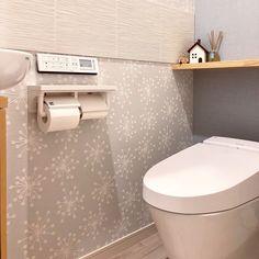 Bathroom/トイレ/アクセントクロス/北欧/エコカラット/お気に入りの空間...などのインテリア実例 - 2018-07-22 07:42:28 | RoomClip (ルームクリップ) Toilet, Laundry, Bathroom, Interior, Closet, Home Decor, Vans, Laundry Room, Washroom