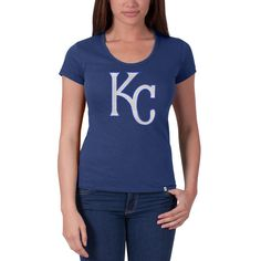 Kansas City Royals Mens Game Winner Mesh V-Neck Jersey Blue
