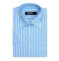 Blue With White Stripe Dress Shirt