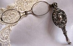 Lorgnette antique sterling silver opera glasses
