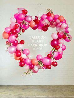 Coração de balões