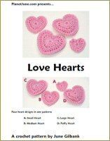 Love hearts free crochet pattern.. nice &  easy to follow, also comes in different sizes :-)