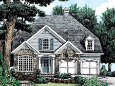 French Country House Plan with 2419 Square Feet and 5 Bedrooms(s) from Dream Home Source | House Plan Code DHSW25761