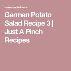 German Potato Salad Recipe 3 | Just A Pinch Recipes