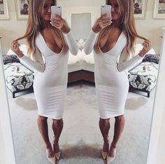NEW ARRIVAL SEXY WOMEN AUTUMN EVENING CLUB PARTY FULL SLEEVE DEEP V HIGH WAIST BODYCON BANDAGE CASUAL DRESS