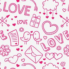 Freebie Release: 15 Valentine's Day Patterns by Freepik Valentines Day, Scrap, Doodles, Patterns, Banners, Wallpapers, Colorful, Design, Log Projects