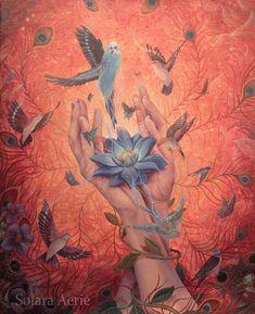 <em>Heal My Hands</em>, acrylic on canvas, 45 x 44 cm, 2014