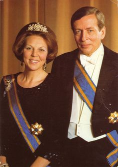 The Queen Beatrix of Holland and  her husband the Prince Claus (April 30, 1980)