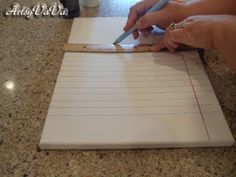 Artsy VaVa: Notebook Paper Canvas / great idea to write a forever letter to your children and hang on their wall