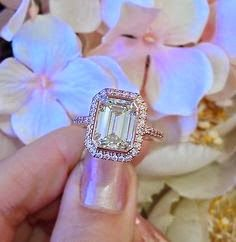 Popular Stuffs: GIA Cert 3.85 Ct Emerald Cut Diamond Engagement Ri...