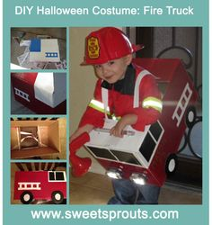 DIY Halloween Costume Fire Truck #kids #SweetSproutsBlog