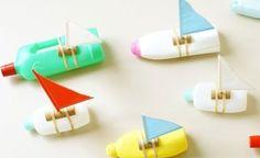 Récup : faire un bateau miniature pour les enfants