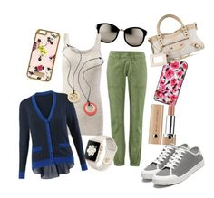 """""""Summer casual"""" by tracey-daugherty-staehle on Polyvore featuring Kate Spade, Linda Farrow, River Island, Marc Jacobs, rag & bone, Balenciaga and CAbi"""