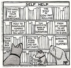 Mystery Fanfare: Cartoon of the Day: Self Help for Dogs