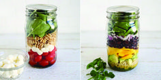 20 Healthy Mason Jar Lunches You Can Bring To Work In The New Year.  perfect for eating healthy on the go.