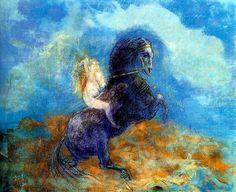 Odilon Redon Symbolist Paintings | Brunhild (The Valkyrie)