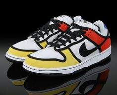 "Nike SB - Piet Mondrian Edition (US$110)    Love the Mondrian's ""Composition in Red, Blue, and Yellow"" style on these sneakers :3"