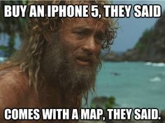 Tom Hanks From The Cast Away Movie Says: I'm So Glad The Super Bowl Winning Seattle Seahawks Found You Wilson! Tom Hanks, Charlie Chaplin, Cast Away Movie, Cast Away 2000, Pier Paolo Pasolini, Toms, Apple Maps, Photo Vintage, Por Tv
