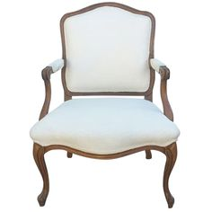French Armchair in Louis XV Style on Chairish.com