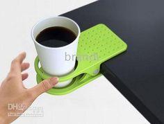Creative Space Saving Deskside Drinklip,Cup Holder, Promotional Gift Drinkware Item