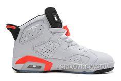 """http://www.jordannew.com/air-jordan-6-infrared-white-infraredblack-for-sale-online.html AIR JORDAN 6 """"INFRARED"""" WHITE/INFRARED-BLACK FOR SALE Only $88.00 , Free Shipping!"""