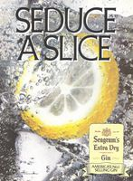 Seagram's Gin America's No. 1 1987 Ad Picture